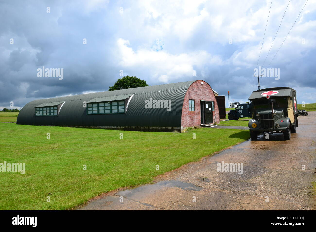 Debach Airfield Museum, 493rd Bomb Group, Suffolk, UK. Home of Helton's Hellcats Station 152 USAAF 1944-45 occupied by the American 8th Army Air Force Stock Photo
