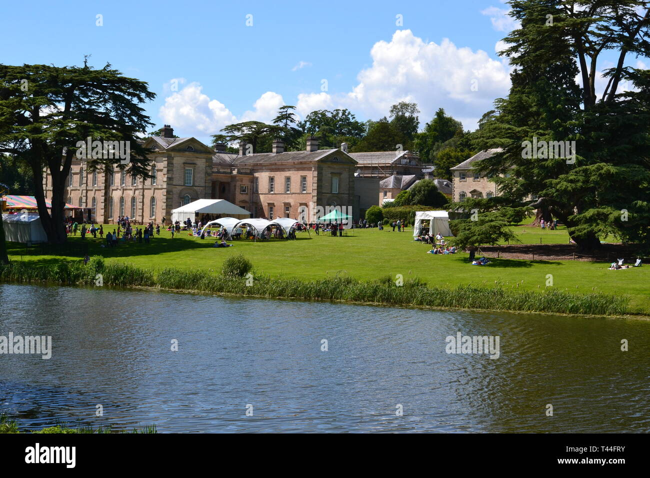Compton Verney House, Compton Verney, Kineton, Warwickshire, England, UK. 18th century country mansion. Art Gallery with landscaped grounds. Stock Photo