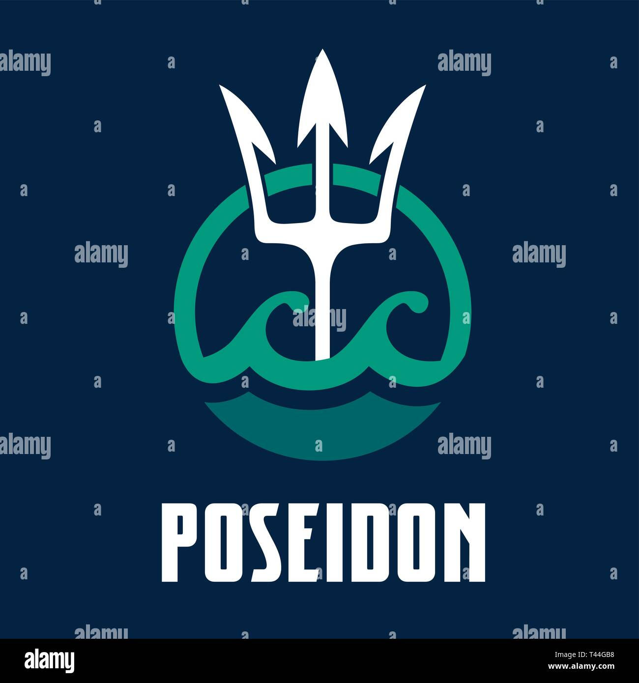 Poseidon Icon Vector Vectors Stock Photos Poseidon Icon
