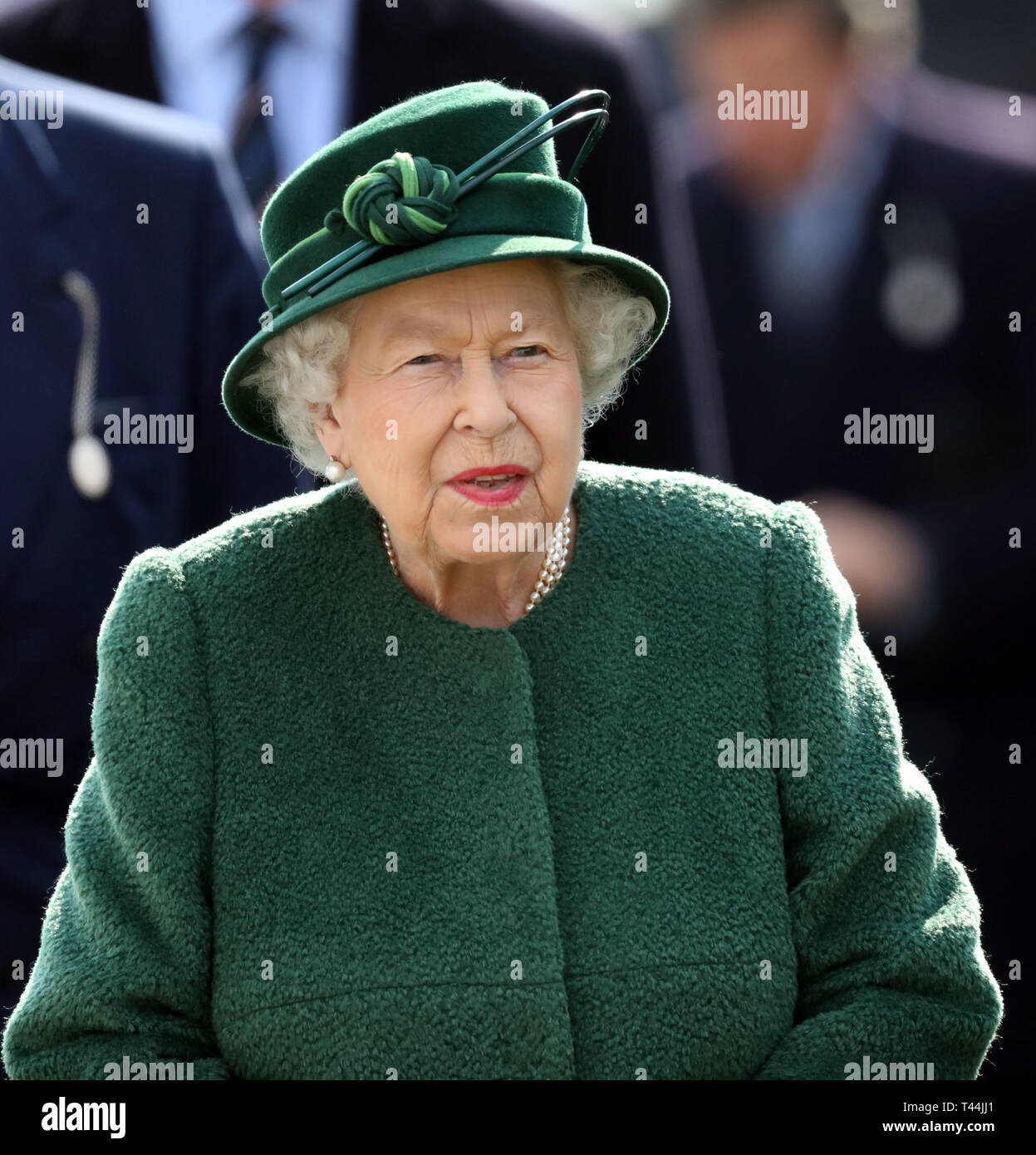 Queen Elizabeth II arrives during day two of the Dubai Duty