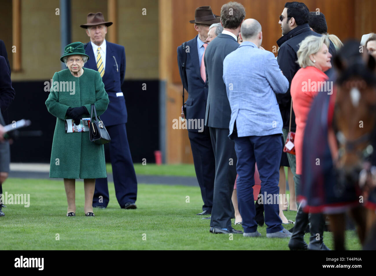 Queen Elizabeth II in the parade ring during day two of the