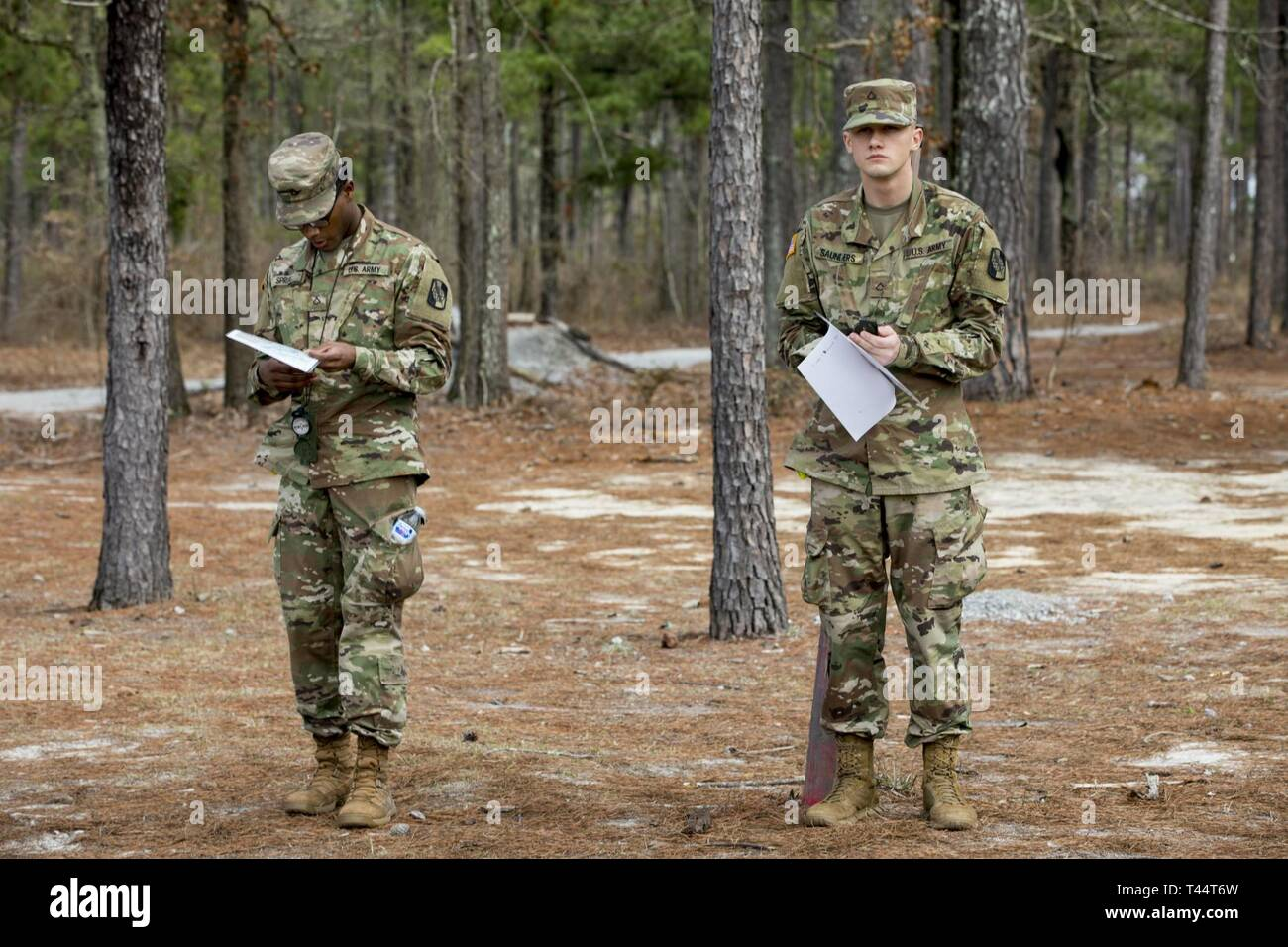 U S  Army Pvt  First Class Paris Spruill(Left) and U S  Army