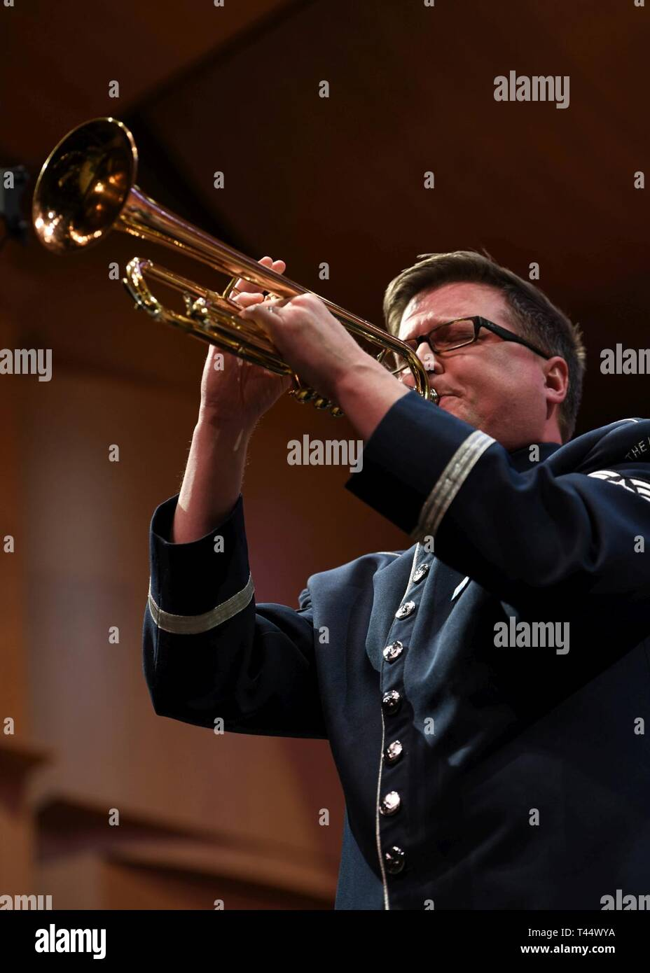 Tech  Sgt  Logan Keese, U S  Air Force band's Airmen of Note trumpet