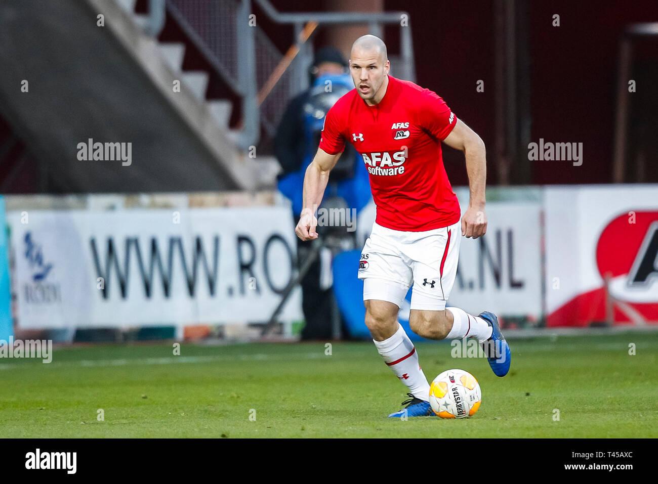 Alkmaar Az Ado Den Haag 13 04 2019 Football Dutch Eredivisie Season 2018 2019 Afas Stadium Az Player Ron Vlaar Stock Photo Alamy