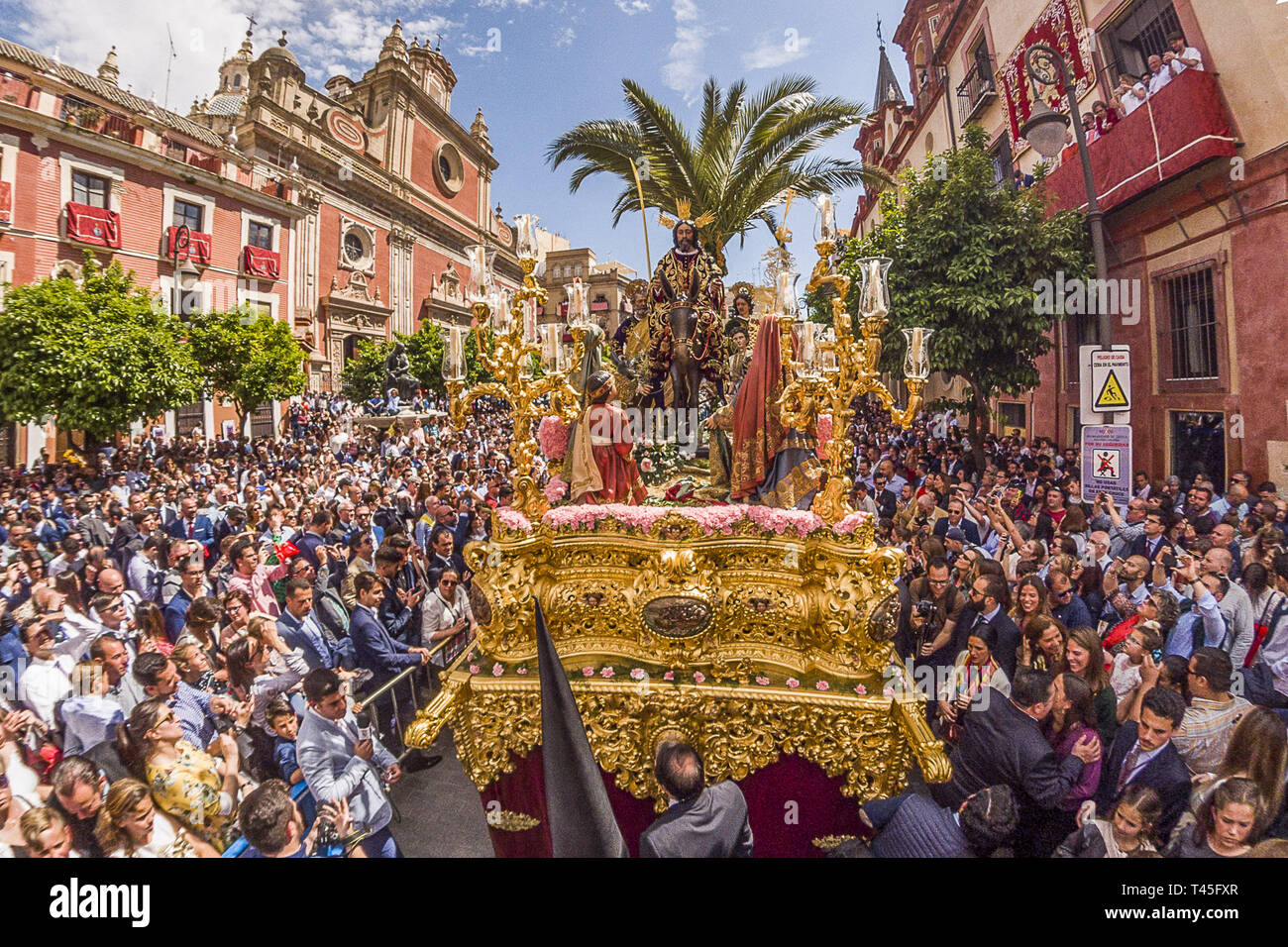 Seville, Spain  4th Apr, 2019  The ''paso'' of the