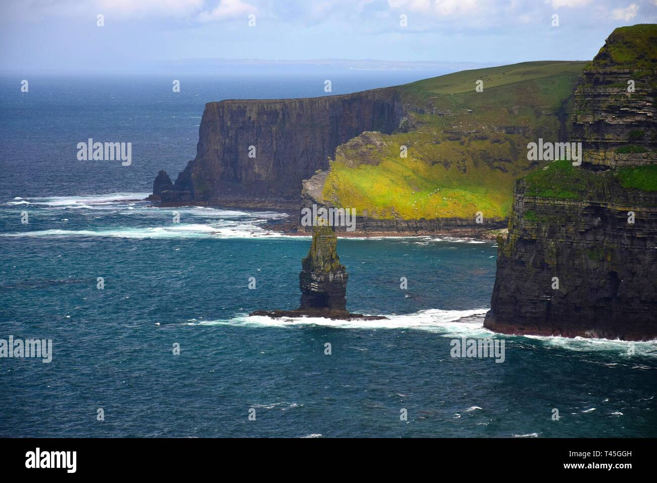 The Cliffs of Moher on the west coast of Ireland in County Clare. - Stock Image