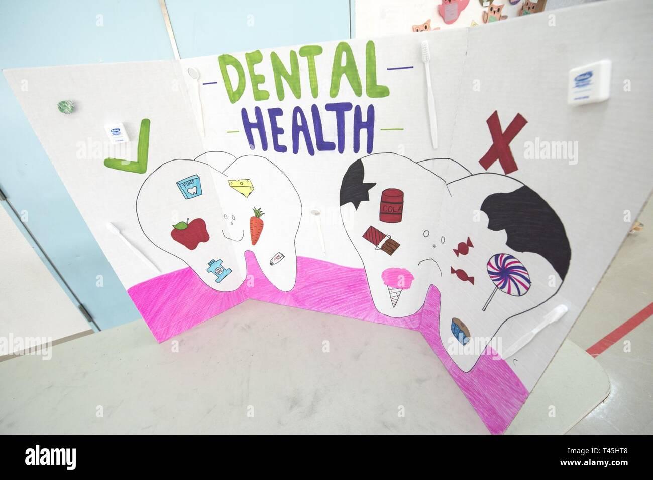 The 35th Dental Squadron displays a dental health board