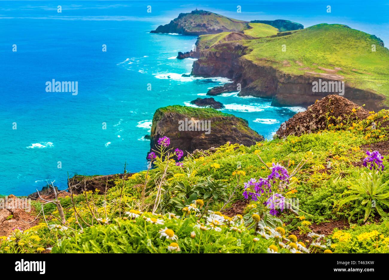 Ponta de Sao Lourenco, Madeira islands, Portugal - Stock Image