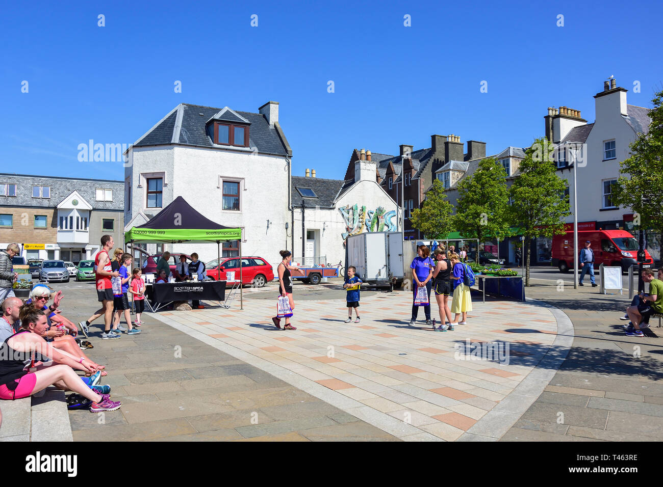 Cromwell Street Quay, Stornoway, Isle of Lewis, Outer Hebrides, Na h-Eileanan Siar, Scotland, United Kingdom - Stock Image