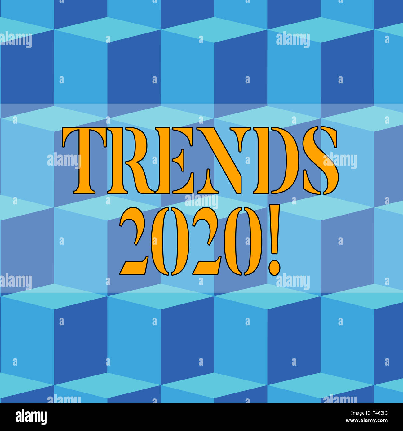Writing note showing Trends 2020  Business concept for