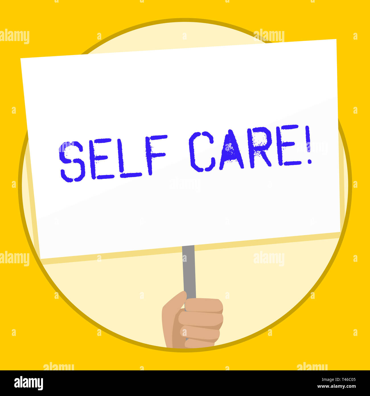 Text sign showing Self Care  Business photo text practice of