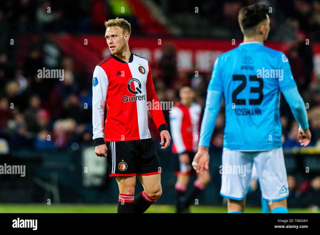 13th of april 2019 Rotterdam, The Netherlands Soccer Dutch Eredivisie Feyenoord v Heracles Almelo  Feyenoord player Nicolai Jorgensen - Stock Image