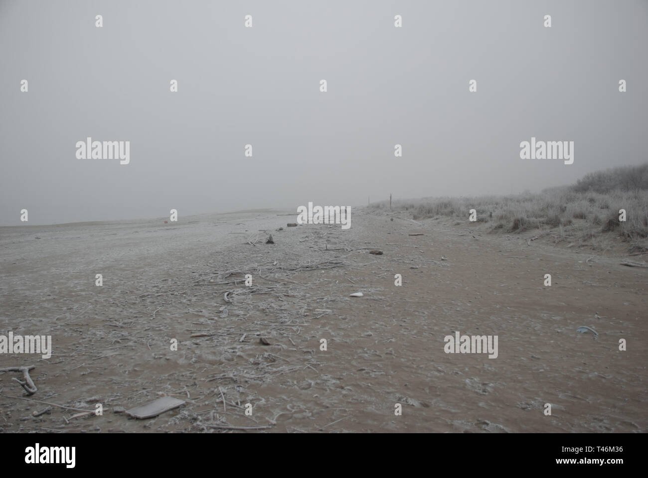 Beach in winter season - Stock Image