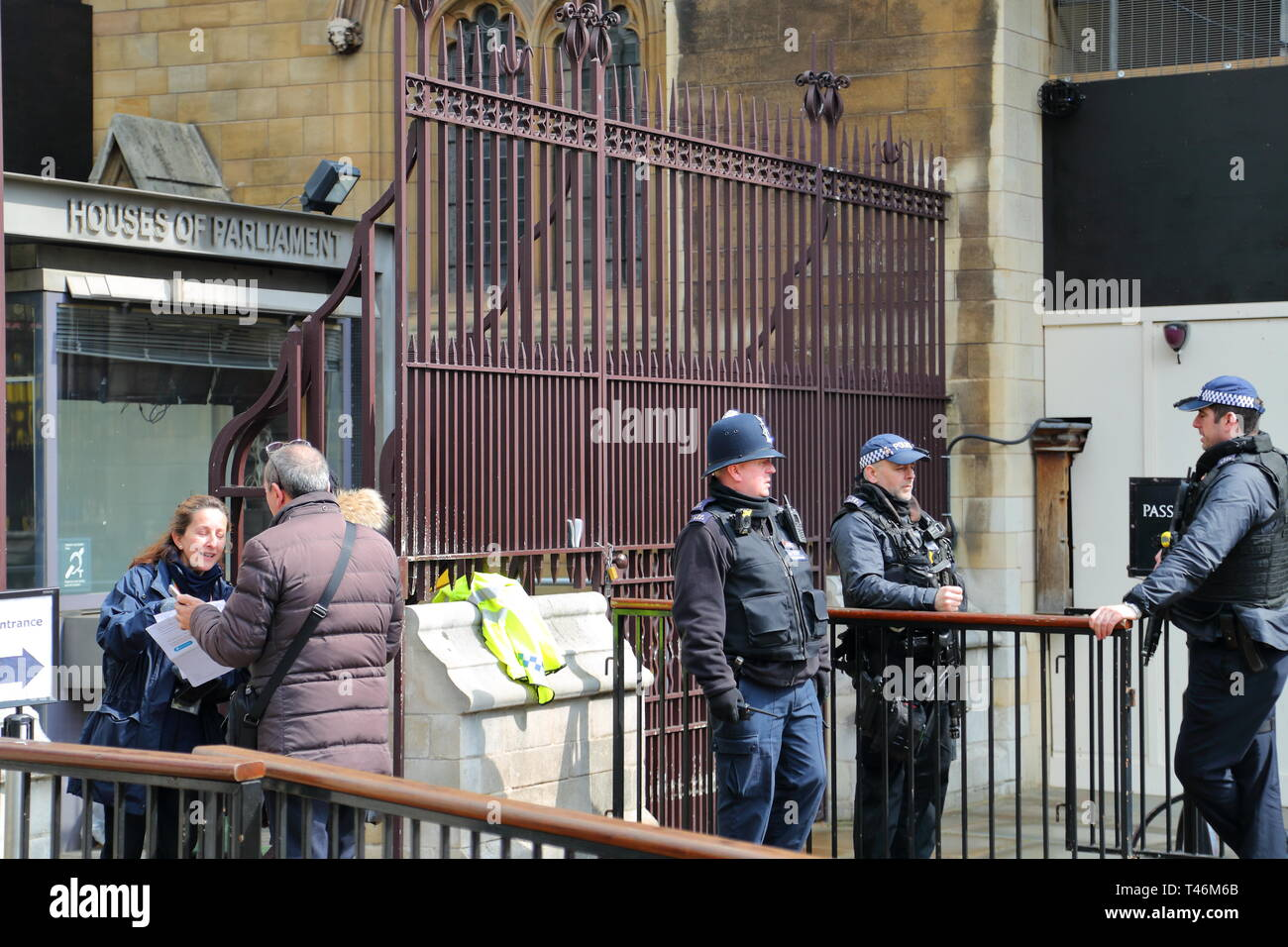 Hightened security at the House of Parliament, Westminster, London, UK - Stock Image