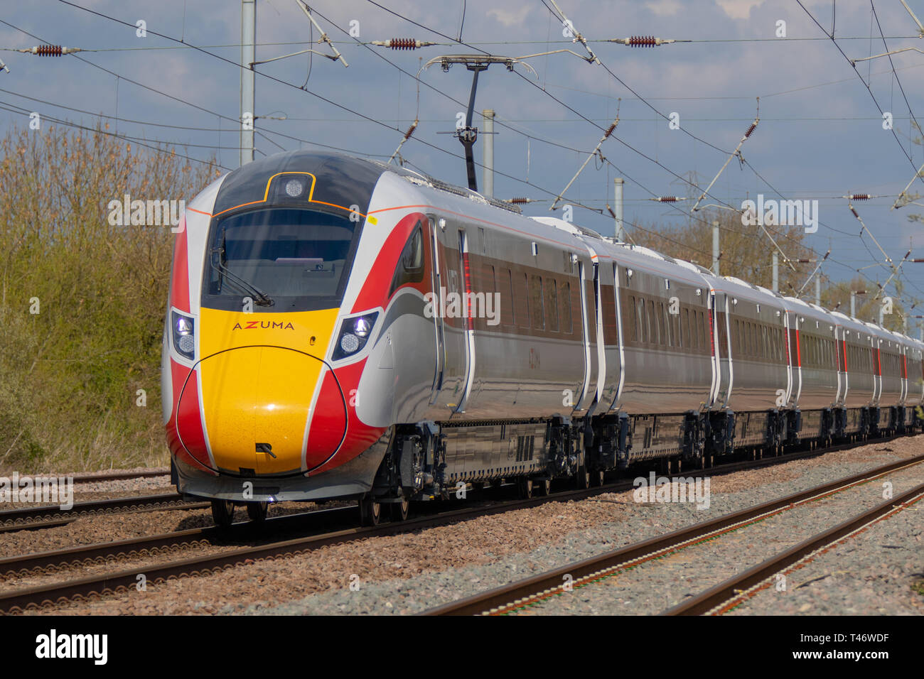New LNER Hitachi 800 Azuma Electric Train - Stock Image