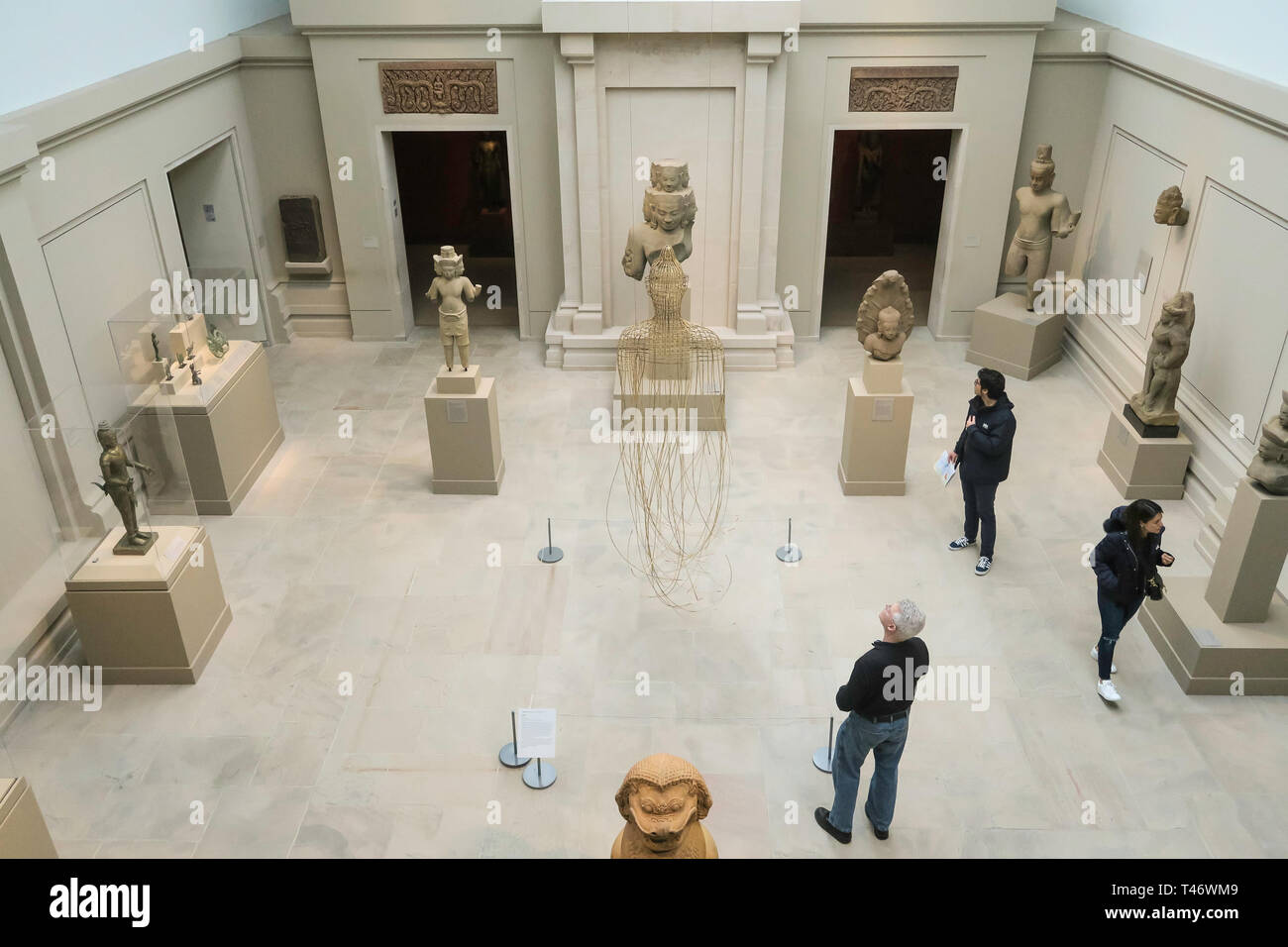 Asian Art Wing at the Metropolitan Museum of Art in New York City, USA - Stock Image