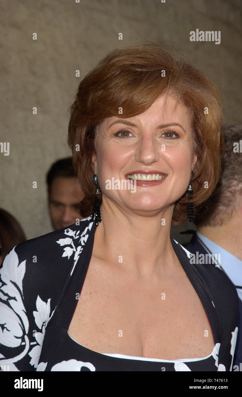 LOS ANGELES, CA. July 01, 2003: ARIANNA HUFFINGTON at the Los Angeles premiere of Legally Blonde 2. - Stock Image
