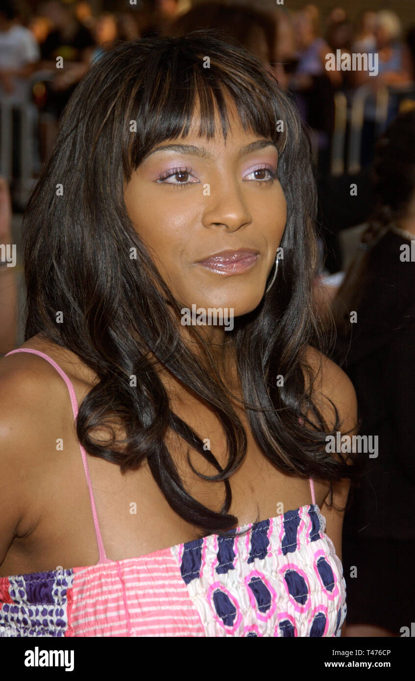 LOS ANGELES, CA. July 21, 2003: NONA GAYE at the world premiere of Lara Croft Tomb Raider: The Cradle of Life, at Grauman's Chinese Theatre, Hollywood. - Stock Image