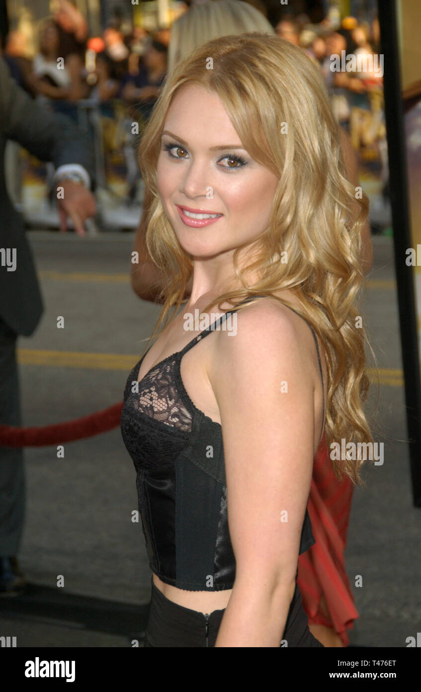 LOS ANGELES, CA. July 21, 2003: Actress LAUREN WOODLAND at the world premiere of Lara Croft Tomb Raider: The Cradle of Life, at Grauman's Chinese Theatre, Hollywood. - Stock Image
