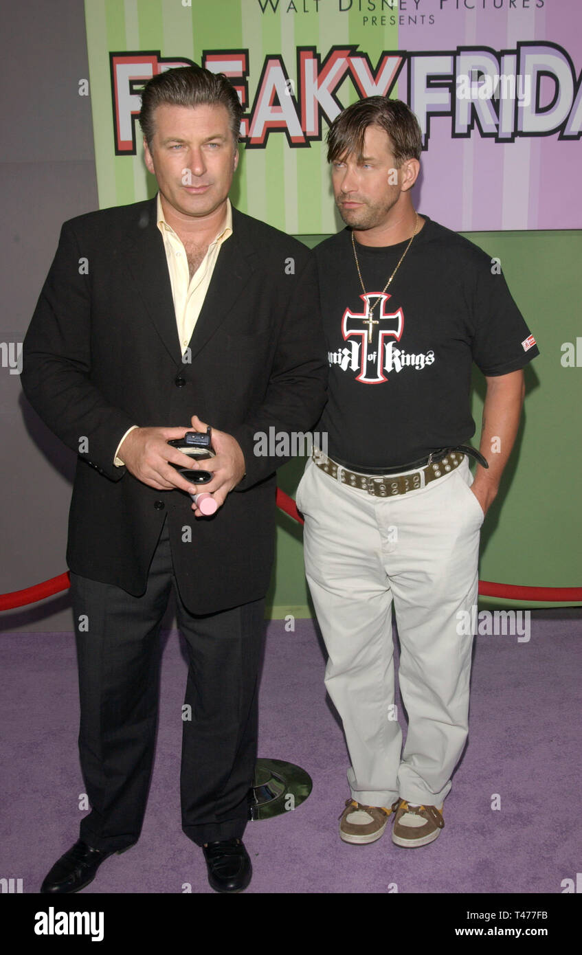 LOS ANGELES, CA. August 04, 2003: Actors ALEC BALDWIN (left) & STEPHEN BALDWIN at the Hollywood premiere of Freaky Friday. Stock Photo