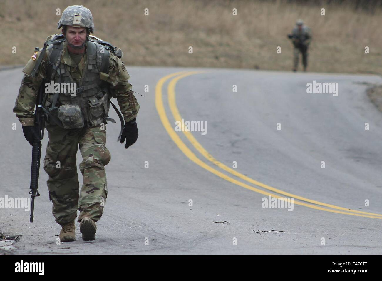 U S Army Reserve Soldier Sgt David Walker 758th Ordnance Company Completed The Ruck March Portion Of The 310th Sustainment Command Expeditionary Best Warrior Competition Here Ft Knox Mar 15 This Is The
