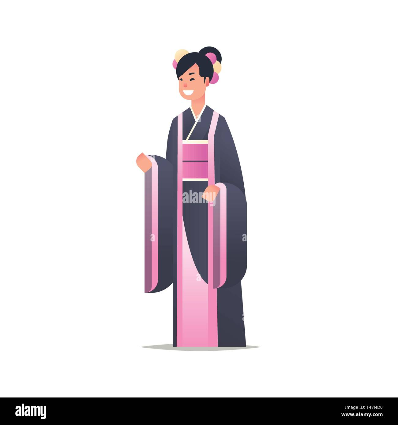 b14c1eb419272 young asian girl wearing traditional dress attractive woman in national ancient  costume standing pose chinese or