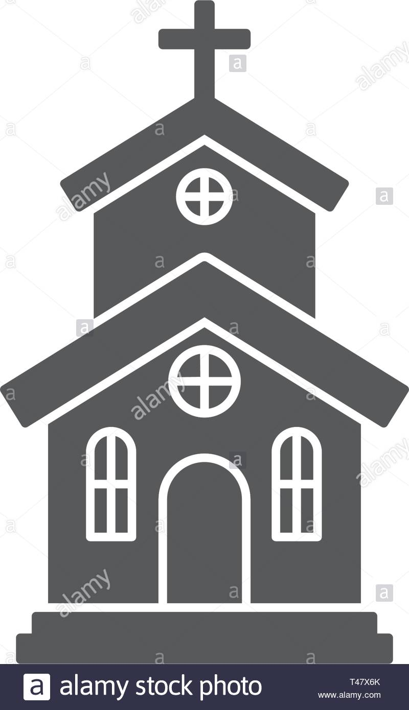 Church icon on white background Vector illustration - Stock Vector