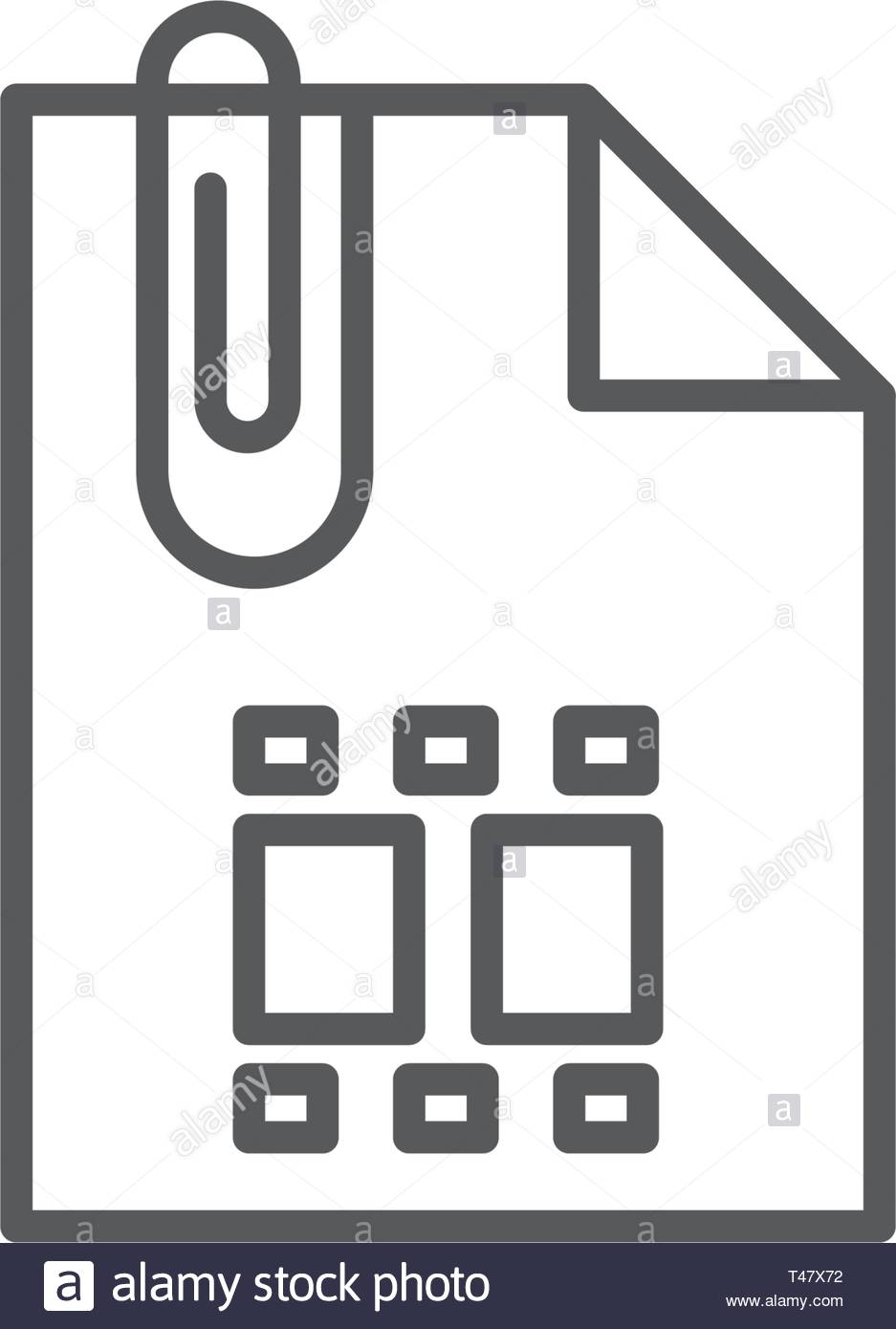 Attach Document flat vector pictograph isolated on white background - Stock Vector