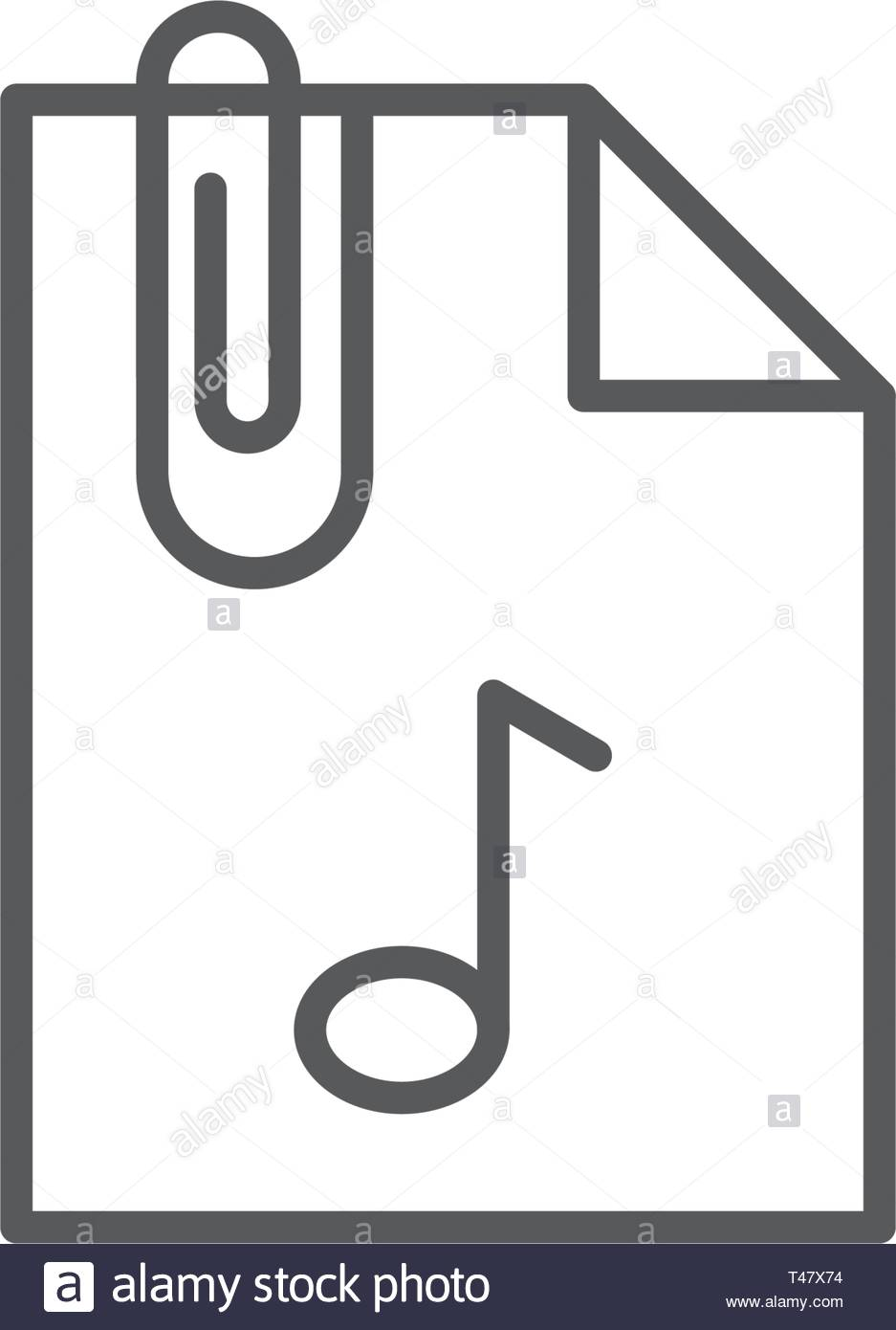 Attach Document flat vector pictograph isolated on white background - Stock Image