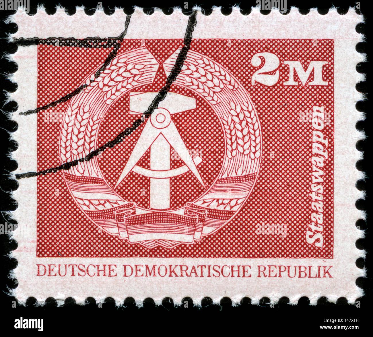 Postage stamp from East Germany (DDR)  in the  series issued in 1989 - Stock Image
