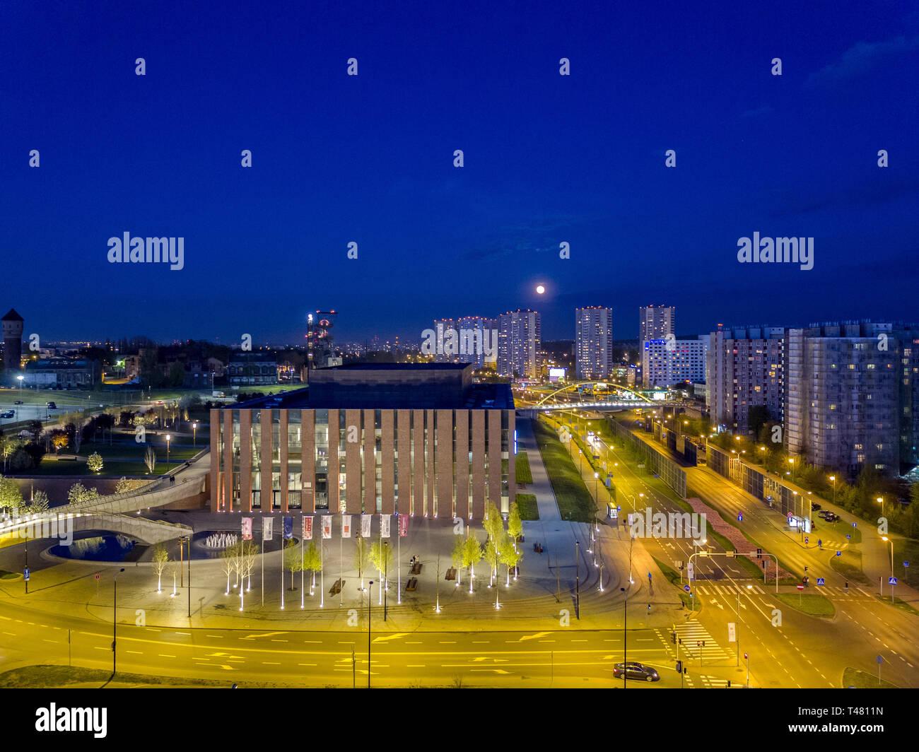 The seat of the NOSPR (the Polish National Radio Symphony Orchestra), Katowice, Silesia, Poland Stock Photo