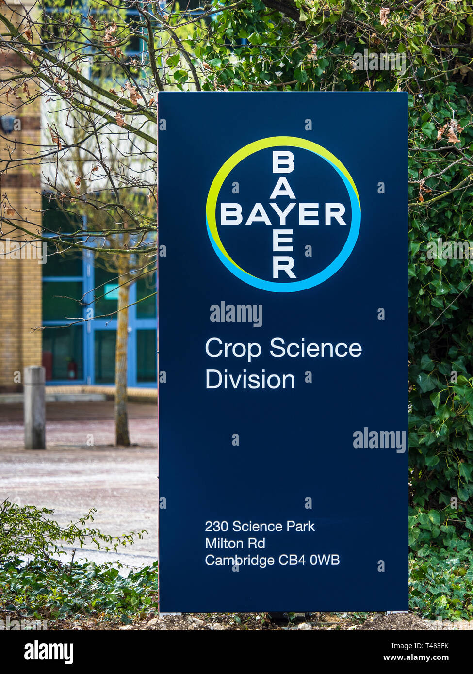Bayer Crop Science Division facility on the Cambridge Science Park, Cambridge UK - Stock Image