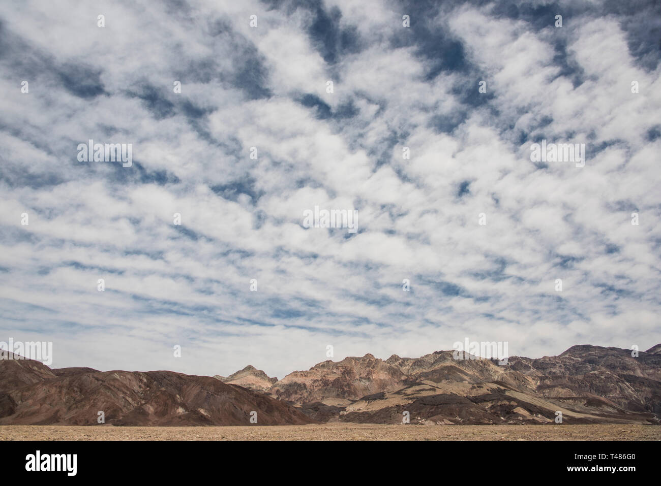 Cloud forms over Death Valley National Park, California and Nevada, USA, North America - Stock Image
