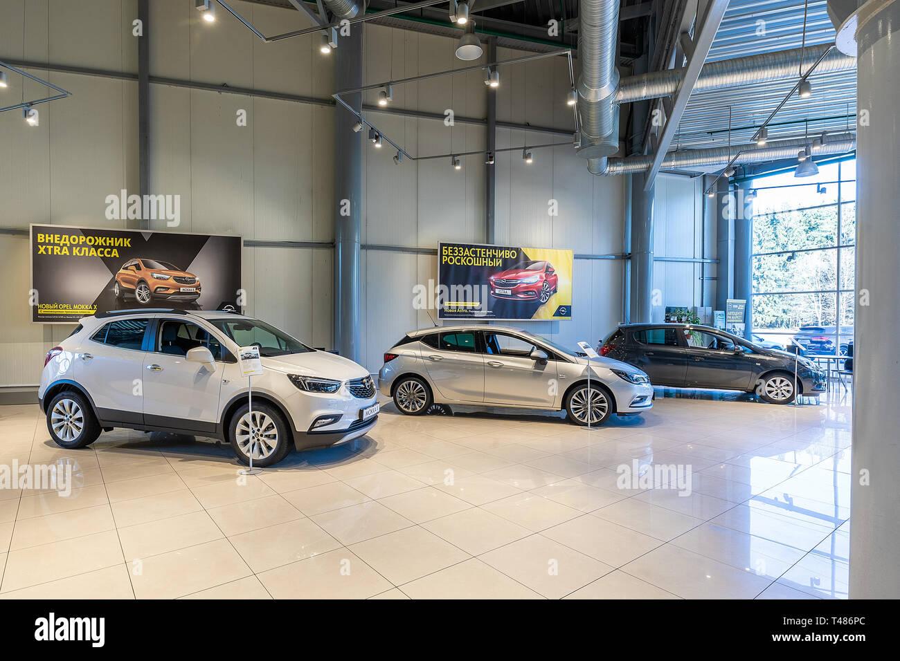 Minsk, Belarus - March 23, 2018: car showroom Opel - Stock Image