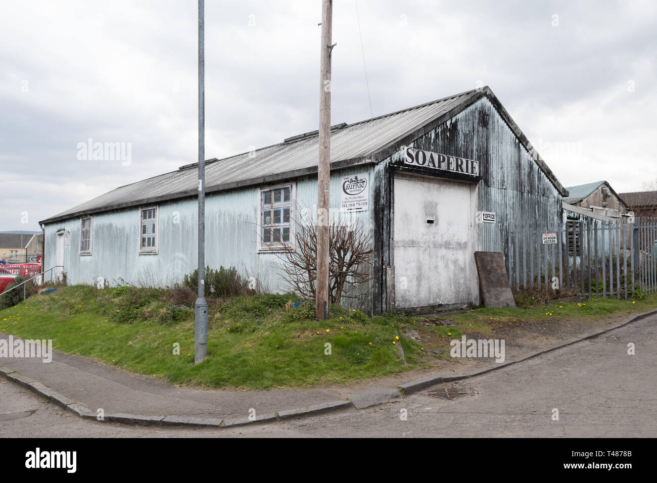 The Caurnie Soaperie - the worlds oldest cold process soapmaker - Kirkintilloch, Scotland, UK Stock Photo