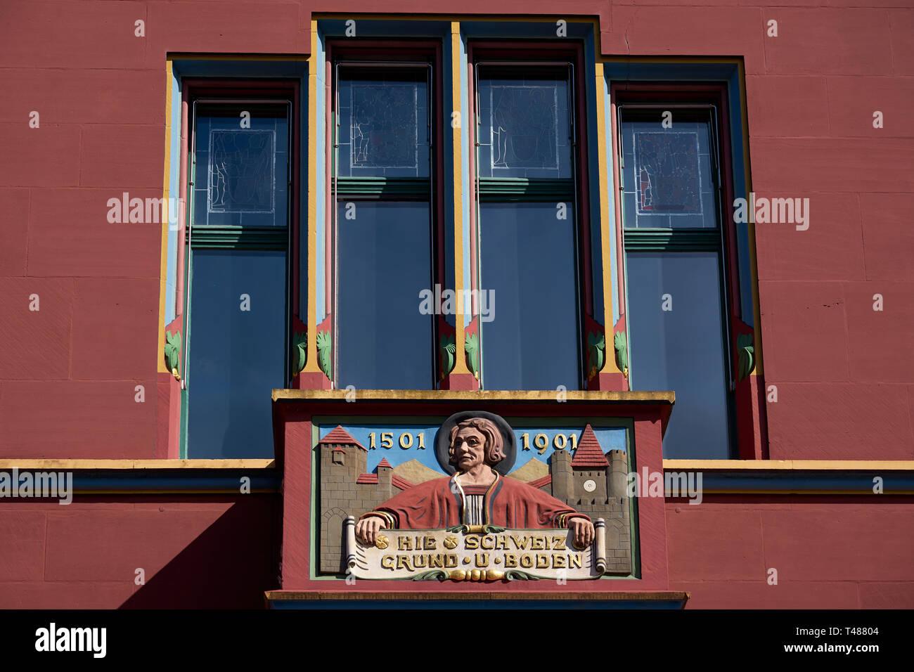 Das Rathaus von Basel in der Schweiz - Stock Image