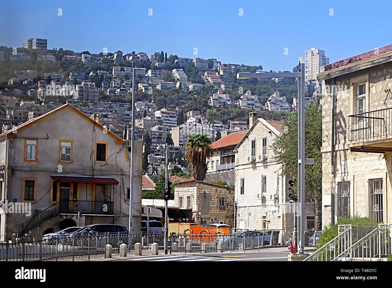 On the sreet of Haifa, Israel, Middle East - Stock Image