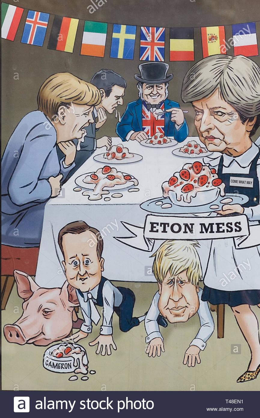 Eton mess. Cartoon - Stock Image