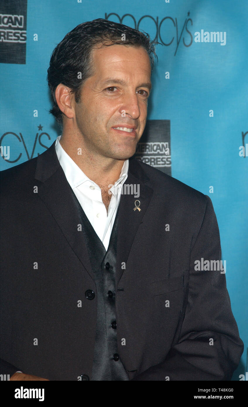 LOS ANGELES, CA. October 02, 2003: Designer KENNETH COLE at the Macy's & American Express Passport 2003 Gala at Santa Monica Airport, - Stock Image