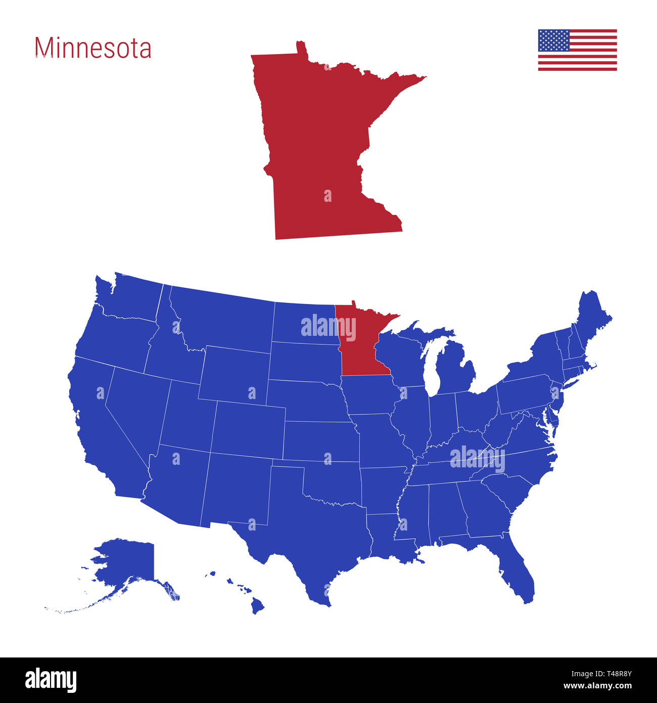 Minnesota State Map Stock Photos & Minnesota State Map Stock Images ...