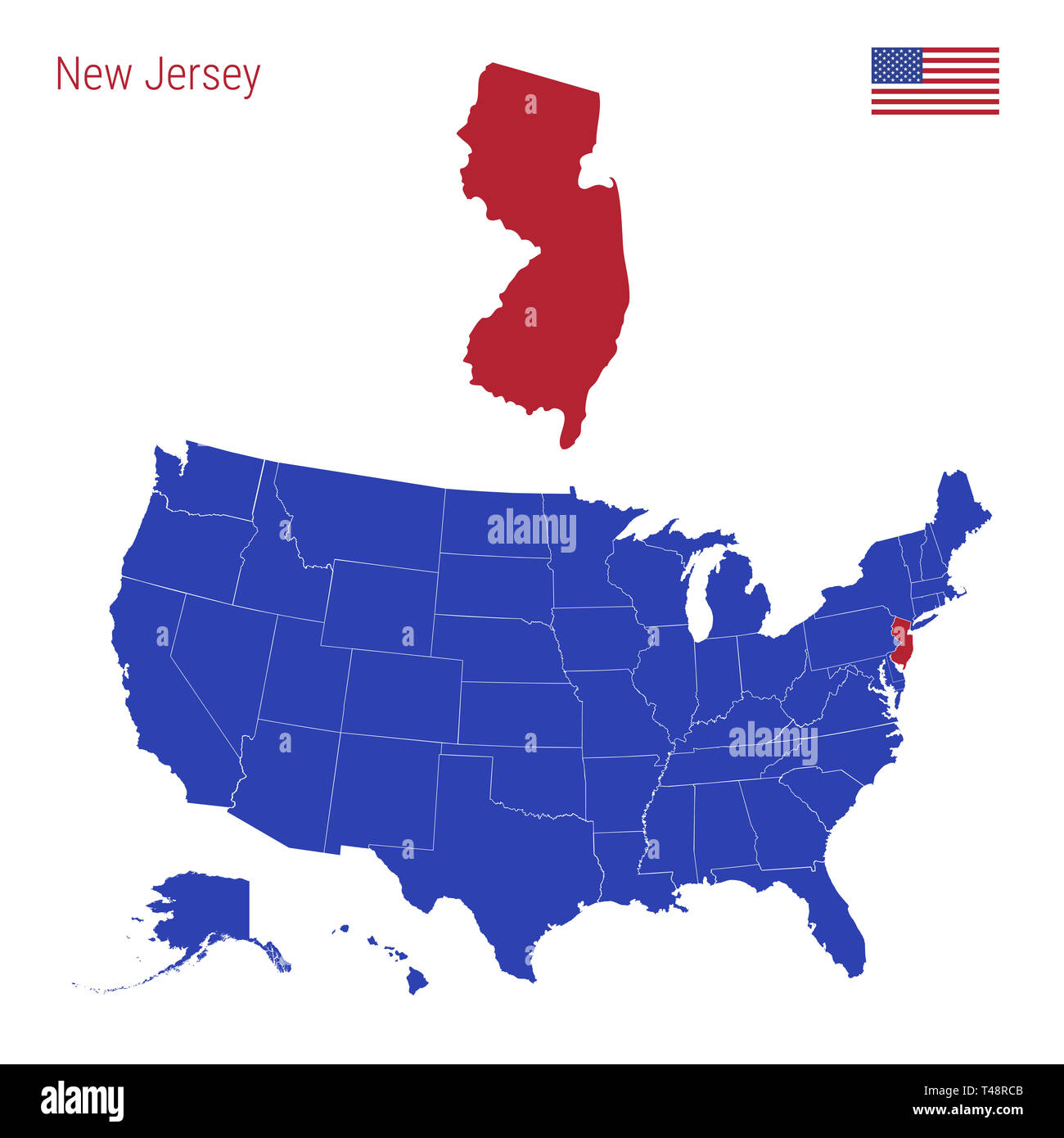 New Jersey State Map Stock Photos & New Jersey State Map Stock ...