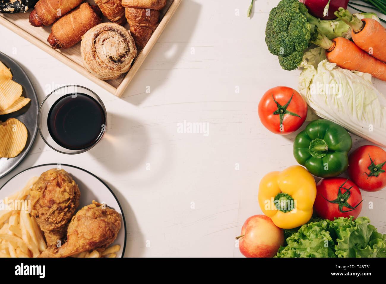 Choosing between Fruits and Sweets  Healthy versus unhealthy food