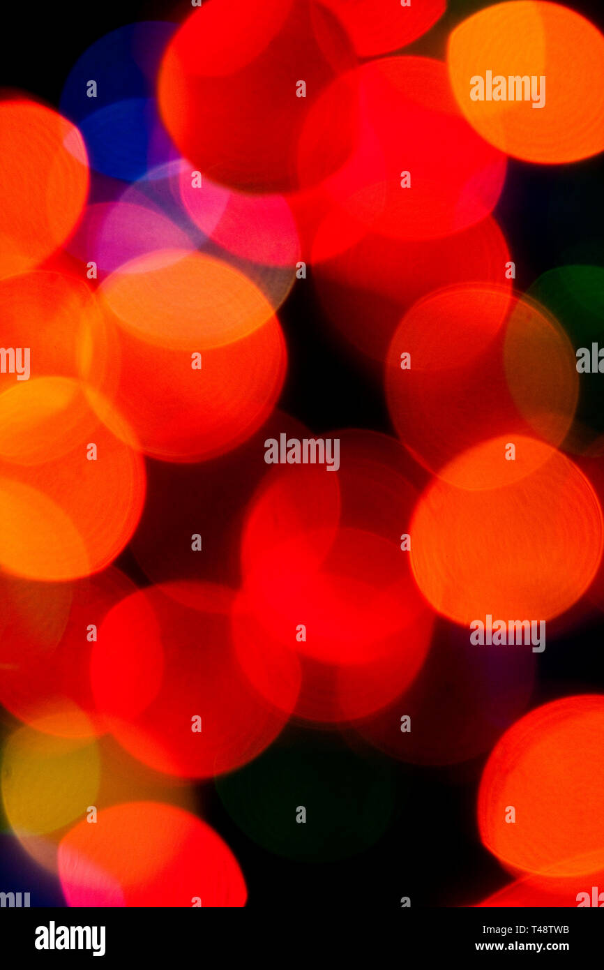 Diffuse Christmas lights for backgrounds or greetings cards. - Stock Image