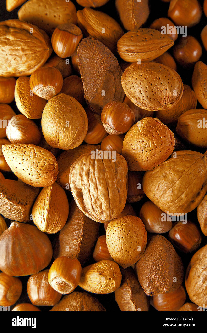 Mixed nuts. An image taken with 'Nuts to Christmas' in mind. - Stock Image