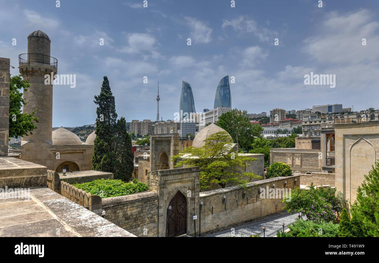 The Palace of the Shirvanshahs is a 15th-century palace built by the Shirvanshahs, located in the Old City of Baku, Azerbaijan. - Stock Image