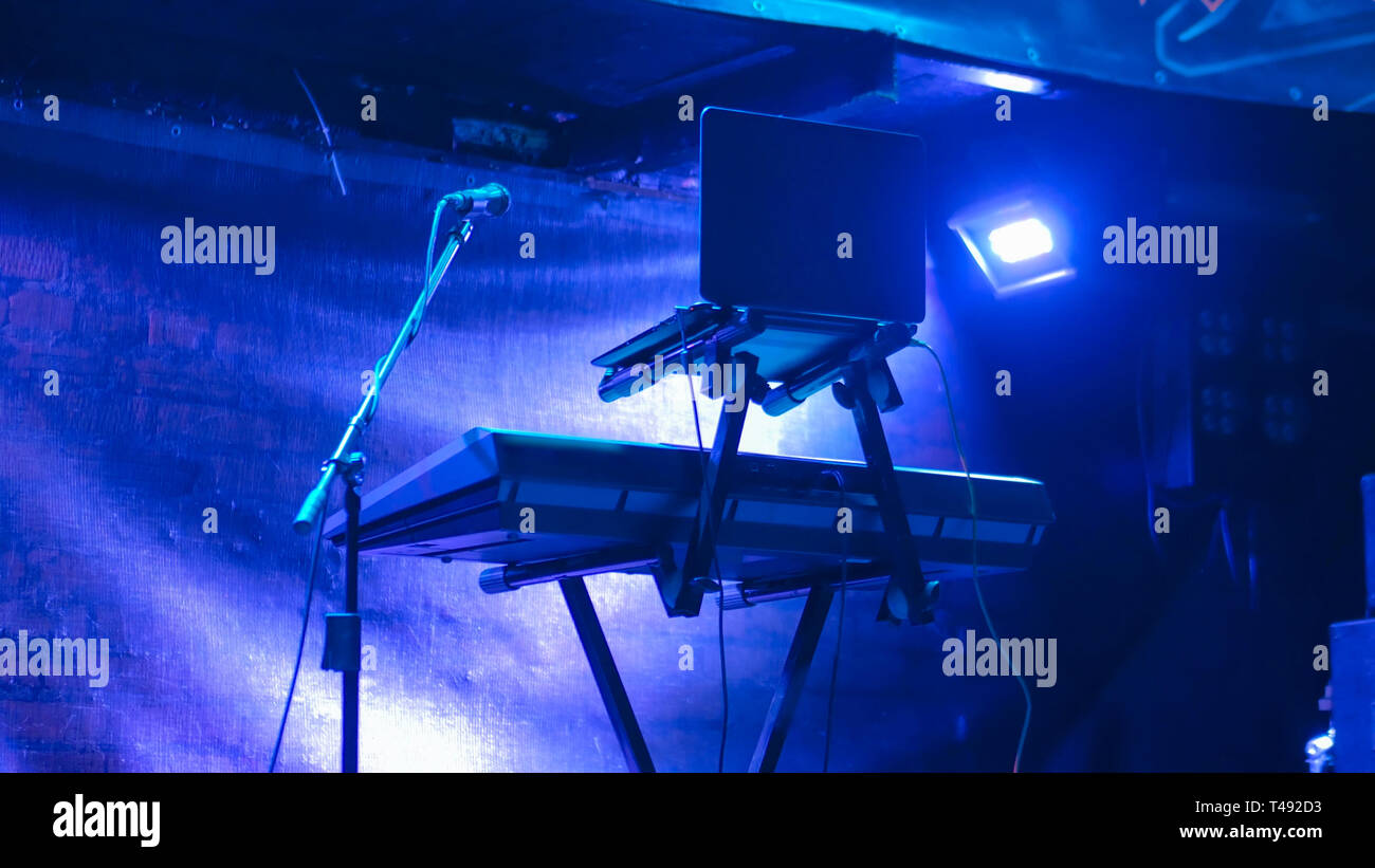 Free stage before concert - Stock Image