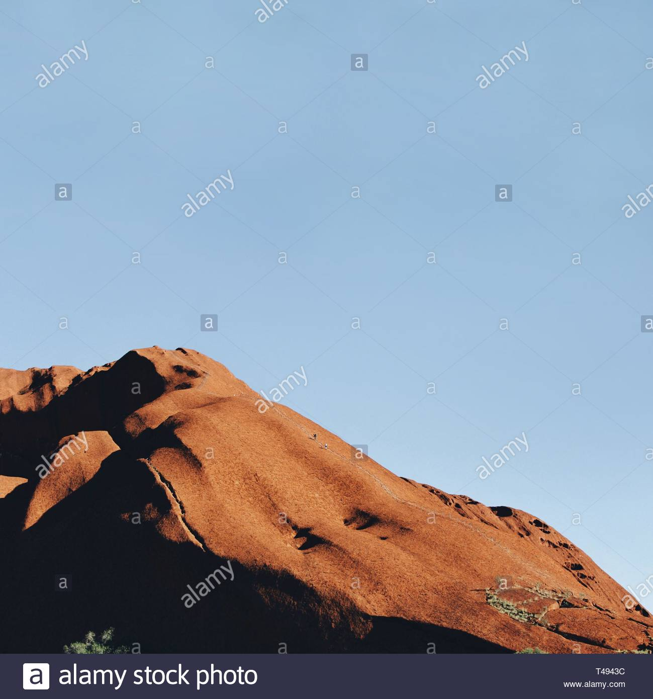 mountain during blue hour - Stock Image