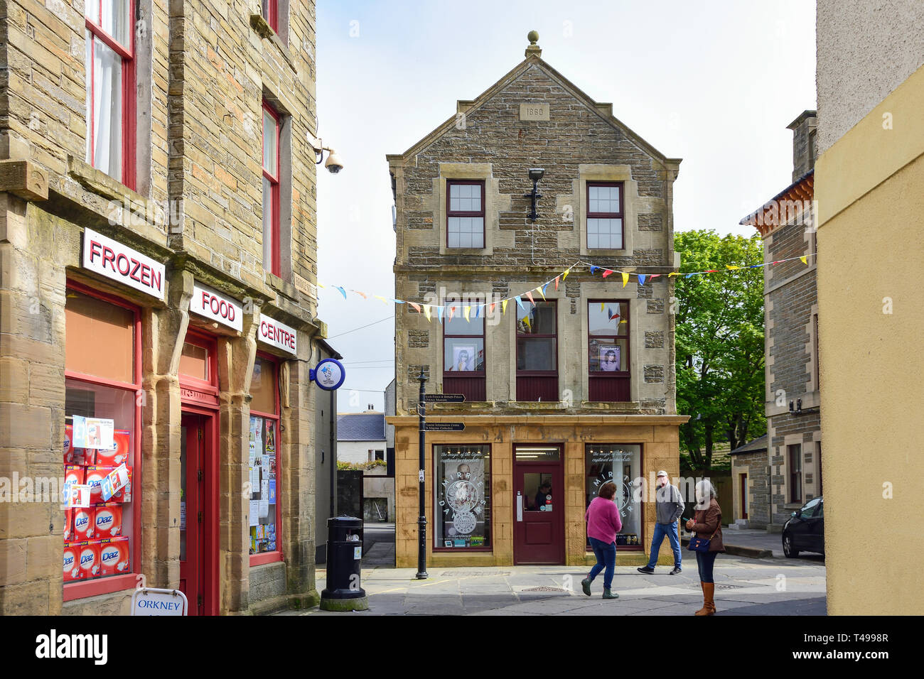 Albert Street, Kirkwall, The Mainland, Orkney Islands, Northern Isles, Scotland, United Kingdom Stock Photo