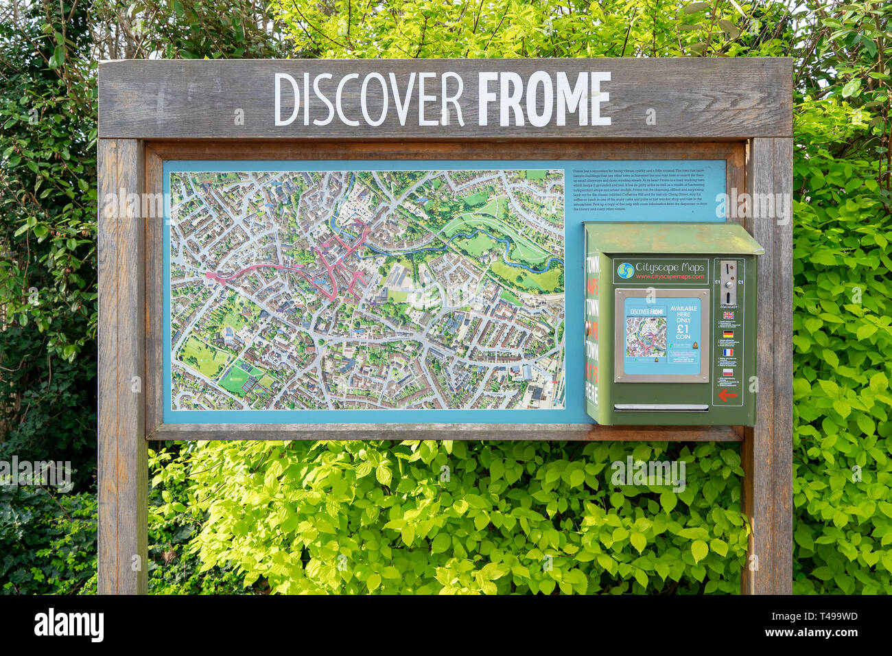 Street map and tourist guide of Frome UK - Stock Image