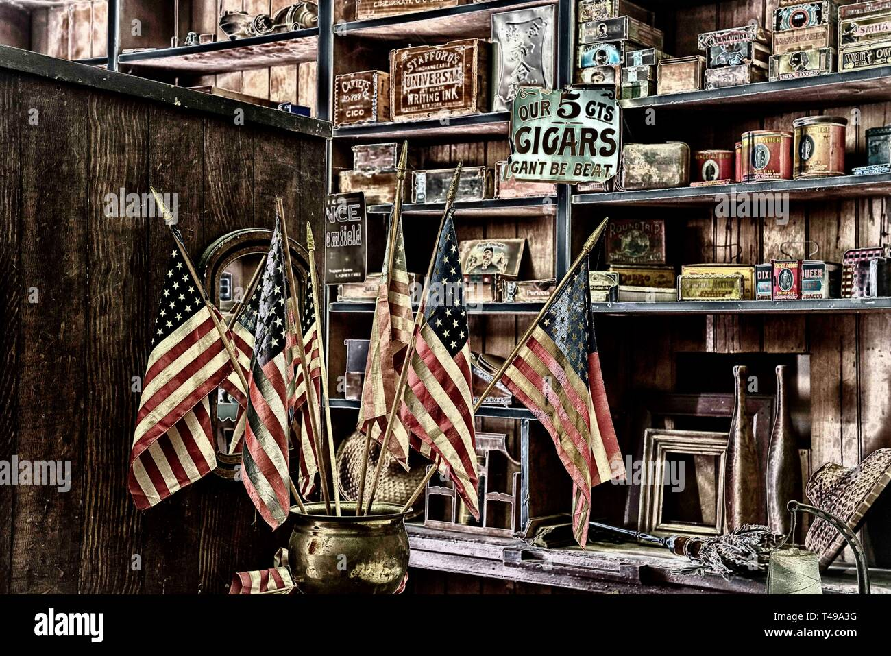 Malakoff General Store Stock Photo